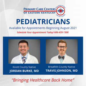 New Pediatricians available for appointments beginning August 2021 at PCCEK